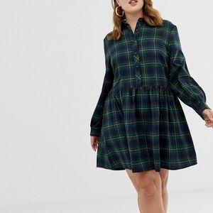 Plaid Smock Dress